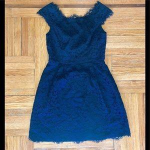 Shoshanna navy lace cocktail dress size 2